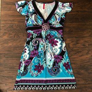 Cute jewel tone short dress